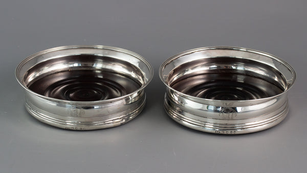 A Very fine pair of Georgian Silver Wine Coasters London 1797 by Stephen Adams