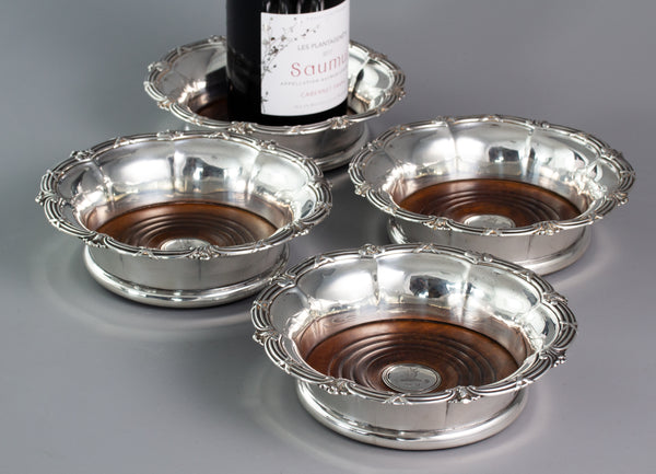 A Superb Set of Four William IV  Silver Wine Coasters Sheffield 1830