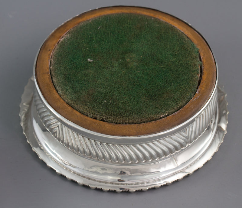 A Large Pair of George III Silver Wine Coasters, Sheffield 1819 by T & J Settle