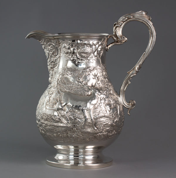 A Large Georgian Silver Wine Jug or Ewer London 1824 by William Eley II