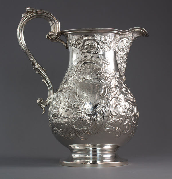 A Large Georgian Silver Wine Jug or Ewer London 1824 by William Eley