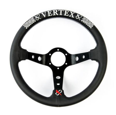 Vertex Checker Steering Wheel - 330mm (STW-CHECKER)