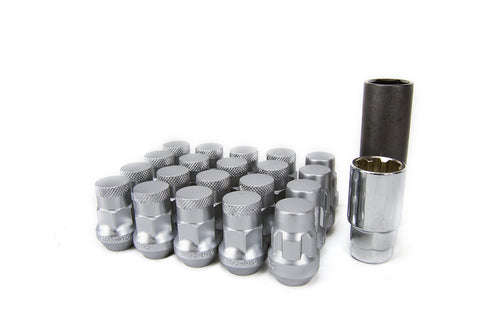 Muteki SR35 (16+4) Silver Closed Ended Lugnuts - 12x1.25/12x1.5
