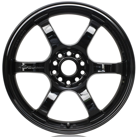 Gram Lights 57DR - 18x8.5 +37 5x108 Glossy Black *Set of 4*