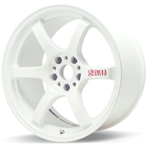 Gram Lights 57DR - 15x8 +35 5x114.3 White *Set of 4*