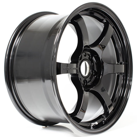 Gram Lights 57DR - 18x9.5 +38 5x100 Gloss Black *Set of 4*