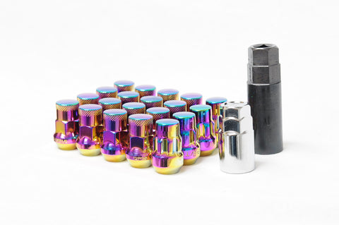 Muteki SR35 (16+4) Chrome Neon Closed Ended Lugnuts - 12x1.25/12x1.5
