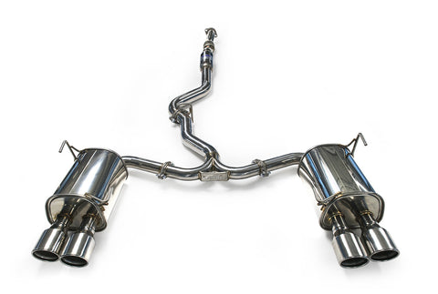 Invidia Q300 Catback Exhaust Rolled Stainless Steel - 15+ WRX/STI