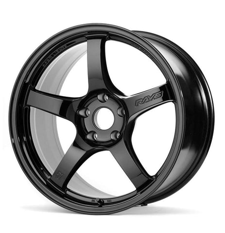 Rays Gramlights 57CR 18x9.5 +38 5x100 Gloss Black *Set of 4*
