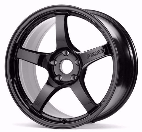 *SET of 4* Gram Lights 57CR 18x9.5 +22 Gloss Black (5x114.3)