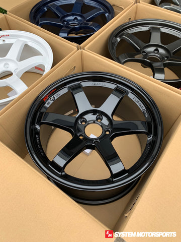 Volk Racing TE37SL - 18x9.5 +45 5x120 Gloss Black *Set of 4*