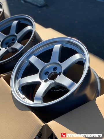 Volk Racing TE37SL - 18x9.5 +38 5x120 Mercury Silver *Set of 4*