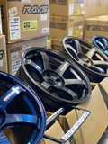 Rays Volk TE37 Saga - 18x11 +37 5x120 / 18x9.5 +33 5x120 (F5 Concave Front / F4 Concave Rear) - Aggressive FK8 Type R Fitment *Set of 4*