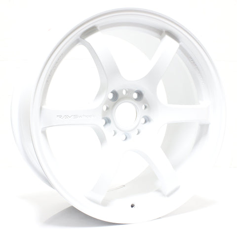 Gram Lights 57DR - 18x9.5 / +38 / 5x120 - White *Set of 4*