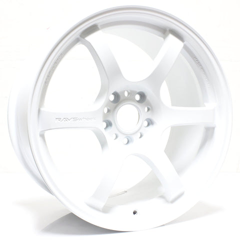 Gram Lights 57DR - 18x9.5 / +38 / 5x114.3 - White *Set of 4*