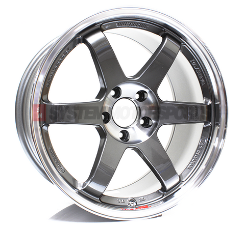 TE37SL Pressed Graphite 18x10 +30, 5x114.3