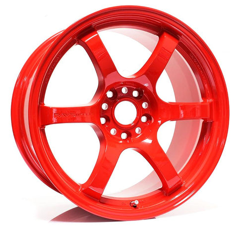 Gram Lights 57DR - 18x9.5 / +38 / 5x114.3 - Red *Set of 4*