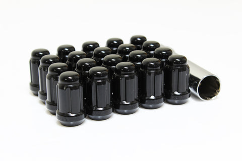 Muteki Tuner Spline Lug Nuts - BLACK Close Ended