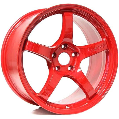 Gram Lights 57CR - 18x9.5 +38 5x100 Milano Red *Set of 4*