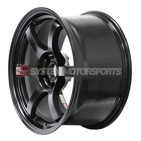 57DR 18x9.5 +38 5x120 Semigloss Black FK8 Civic Type R Fitment