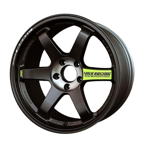 *SET of 4* Volk Rays Engineering TE37SL Black Edition II 18x9.5 +43, 5x100 - Pressed Black
