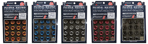 Rays L32 Dura-Nuts Straight Type Lug & Wheel Lock Set (16 Lugs + 4 Locks)