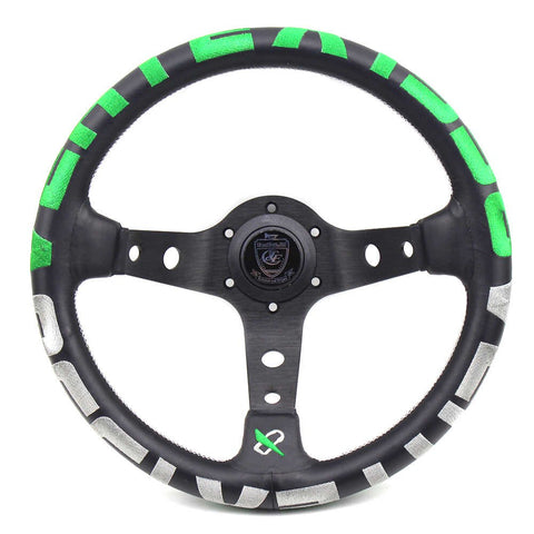 Vertex 1996 Steering Wheel Green - 330mm