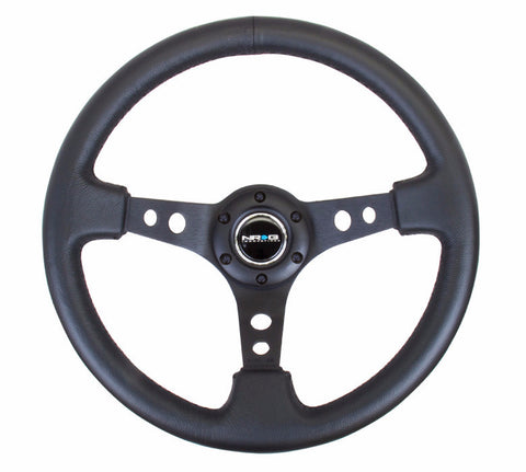 NRG Black Steering Wheel Deep Dish