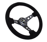 "NRG 350mm Deep Dish Steering Wheel (3"" Deep) (ST-006S)- Suede"