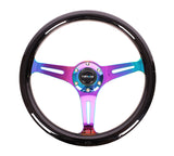 NRG 350mm Classic Wood Grain Steering Wheel (ST-015MC-BK) - Black/Neochrome