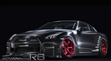 Racing Candy Red Advan R6-equipped R35 GTR by HKS