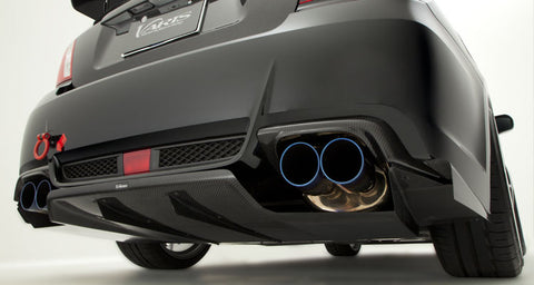 Varis Rear Diffuser - Carbon Aftermarket Exhaust- 2008-2014 Subaru WRX/STI Sedan (GVB Impreza)