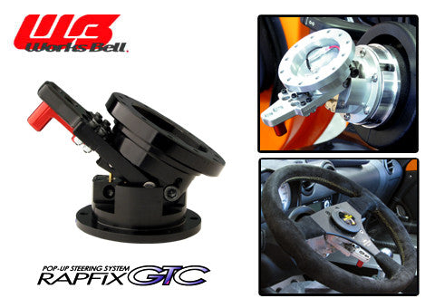 Works Bell Rapfix GTC Pop-up (Tilt up) Steering System - Black
