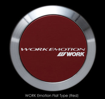 Work Emotion Wheel Center Cap (Flat Type) - Red