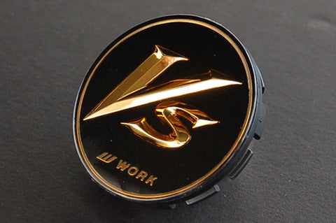 "WORK VS-XX ""VS"" 20"" Center Cap (Black / Gold Small Base"