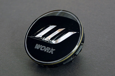 WORK Optional Center Cap - Black / Silver (Small Base)