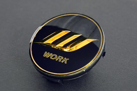 WORK Optional Center Cap - Black / Gold (Small Base)