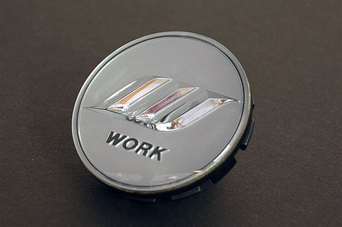 WORK Optional Center Cap - Silver / Silver (Small Base)