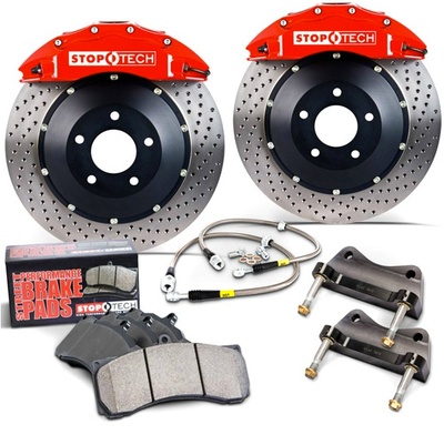 Stoptech Front Big Brake Kit BBK 355x32 Red/Slotted Front - Scion FRS/Subaru BRZ/Toyota GT86