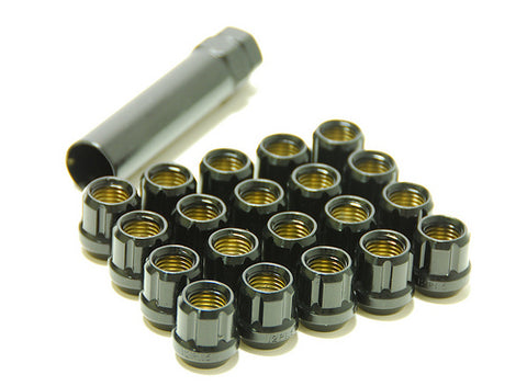 Muteki Classic Lug Nuts - BLACK OPEN Ended