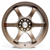 57DR Bronze 18x9.5 +38 5x120 FK8 Civic Type R Size