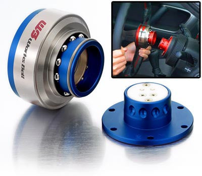 Works Bell Rapfix Steering Wheel Quick Release - Blue