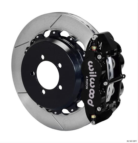 Wilwood Forged Narrow Superlite 4R Big Brake Rear Brake Kit For OE Parking Brake - Scion FRS / Subaru BRZ (Slotted)