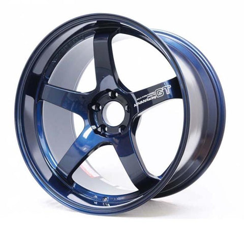 Advan Racing GT Premium - 18x9.5 +38, 5x120 Titanium Blue (2017+ FK8 Civic Type R Spec) *Set of 4*