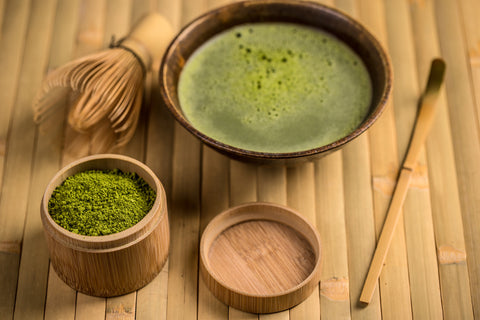 matcha tea set and mixed