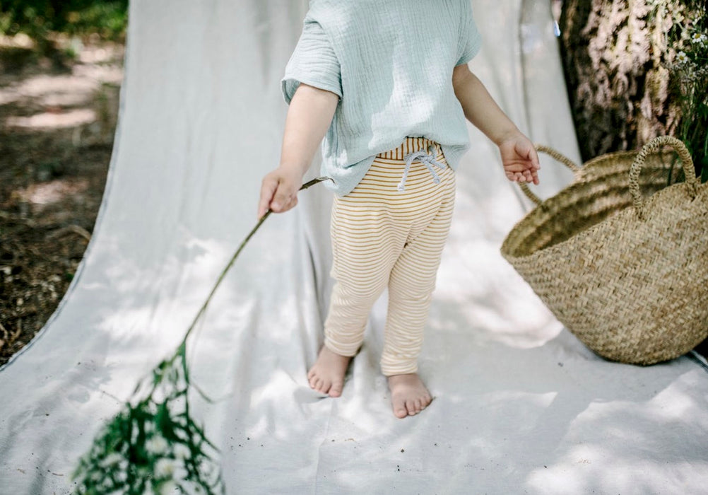 Sky Shirt & Ochre Pants Set