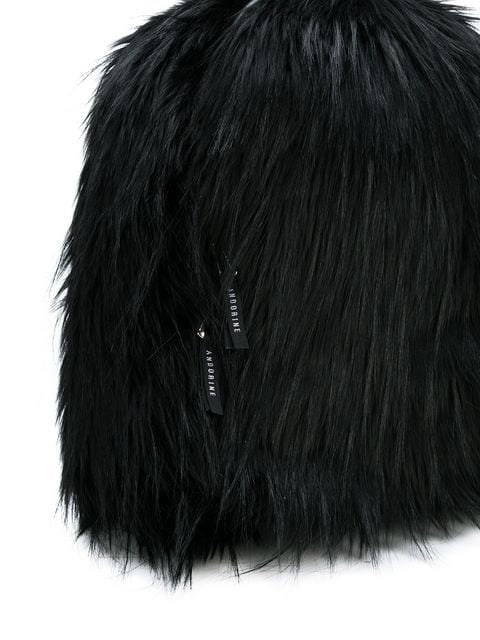 FAUX FUR BACKPACK