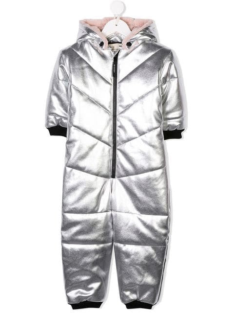 METALLIC QUILTED OVERALL