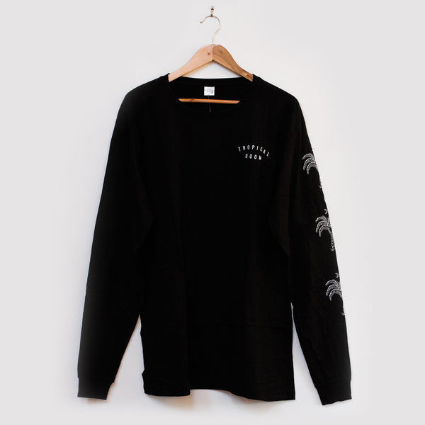 Bones-Palm_Longsleeve-black-f_tropical-doom