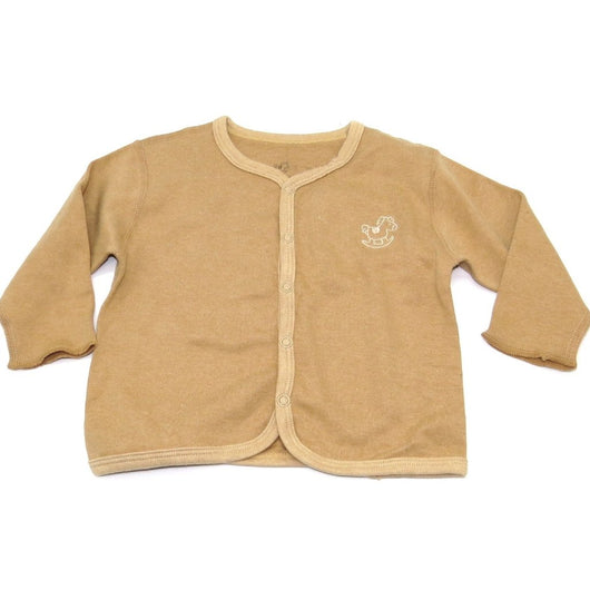 [Baby Piper] Long Sleeve Mid Buttoned Shirt 100% Organic Cotton Dye Free (1103) - Tested Safe and Suitable for Sensitive & Delicate Skin - Various colors and sizes to choose from